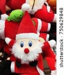 cute stuffed toy santa claus... | Shutterstock . vector #750629848
