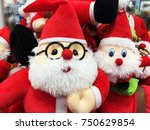 cute stuffed toy santa claus... | Shutterstock . vector #750629854