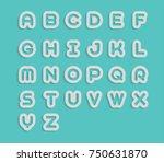 white  a b c d e f g h i j k l... | Shutterstock .eps vector #750631870