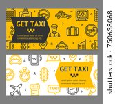 taxi line service flyer banner... | Shutterstock . vector #750638068