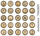Alphabet  Grunge Typewriter...