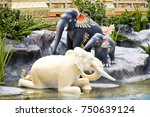 elephant about himmapan... | Shutterstock . vector #750639124