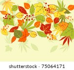 Autumn colorful leaves background for seasonal design. Jpeg version also available in gallery - stock vector