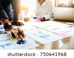 businessman holding pens and... | Shutterstock . vector #750641968
