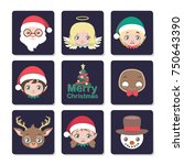 cute christmas character... | Shutterstock .eps vector #750643390