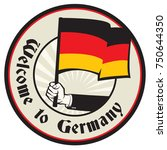 germany country welcome sign or ... | Shutterstock .eps vector #750644350