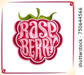 vector logo for raspberry ...   Shutterstock .eps vector #750644566