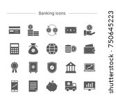 banking icons set. | Shutterstock .eps vector #750645223