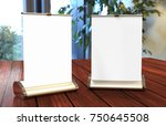 a4 a3 pvc pp paper table top... | Shutterstock . vector #750645508
