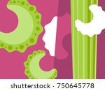 abstract vegetable design in... | Shutterstock .eps vector #750645778