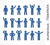 collection of stick figures... | Shutterstock .eps vector #750649654