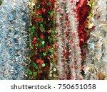 plastic garland ribbon .... | Shutterstock . vector #750651058