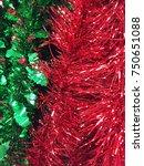 plastic garland ribbon .... | Shutterstock . vector #750651088