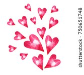 greeting card design with... | Shutterstock . vector #750651748