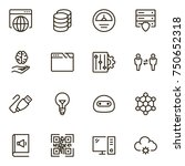 machine learning icon set.... | Shutterstock .eps vector #750652318