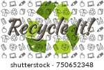 recycle it vector illustration. ... | Shutterstock .eps vector #750652348