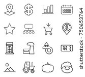 thin line icon set   pointer ...
