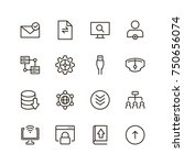data exchange icon set.... | Shutterstock .eps vector #750656074