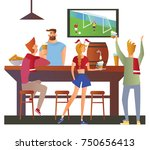 beer bar   restaurant. football ... | Shutterstock .eps vector #750656413
