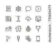 communication icon set.... | Shutterstock .eps vector #750656479