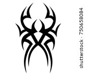 tattoo tribal designs. sketched ... | Shutterstock .eps vector #750658084
