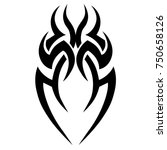 tribal pattern tattoo vector... | Shutterstock .eps vector #750658126