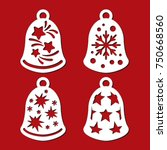 set of christmas bells with