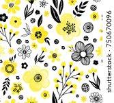 floral seamless pattern design. ... | Shutterstock .eps vector #750670096