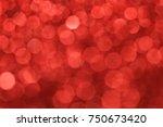 red bokeh light christmas day... | Shutterstock . vector #750673420