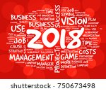 2018 goals word cloud business... | Shutterstock .eps vector #750673498