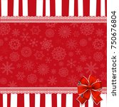 festive wrapped template with ...   Shutterstock .eps vector #750676804