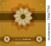 abstract floral background.... | Shutterstock .eps vector #75067750