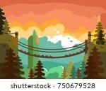 Suspension Bridge In Jungle...