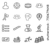 thin line icon set   man ... | Shutterstock .eps vector #750679648