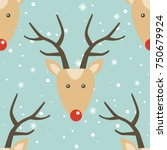 seamless pattern  deers and