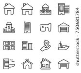thin line icon set   home ... | Shutterstock .eps vector #750681784