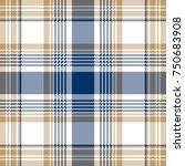 Blue Beige White Checkered...