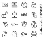 thin line icon set   money ... | Shutterstock .eps vector #750684058