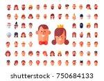 cool flat vector avatars. | Shutterstock .eps vector #750684133