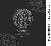 vector emblem. can be used for... | Shutterstock .eps vector #750686170