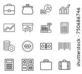 thin line icon set   portfolio  ...   Shutterstock .eps vector #750686746