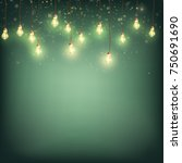 merry christmas card concept  ... | Shutterstock .eps vector #750691690
