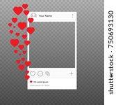 social network photo frame...   Shutterstock .eps vector #750693130
