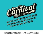 vector of stylized calligraphic ... | Shutterstock .eps vector #750694333