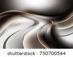 abstract brown wave design... | Shutterstock . vector #750700564