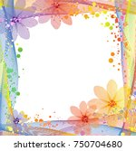 abstract colorful frame with... | Shutterstock .eps vector #750704680