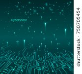 cyberspace. futuristic concept. ... | Shutterstock .eps vector #750705454