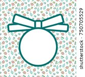 christmas frame with pattern in ... | Shutterstock .eps vector #750705529