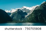 lake and mountain landscape... | Shutterstock . vector #750705808