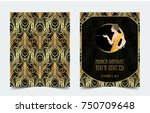 art deco vintage invitation... | Shutterstock .eps vector #750709648